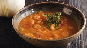 Krémová krevetová polévka se zeleninou